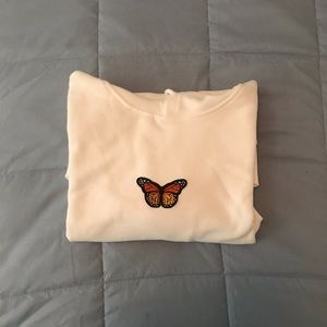 white christy butterfly hoodie dupe 🦋